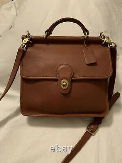 Vintage Coach WILLIS Crossbody 9927 British Tan Purse Bag with Coach Wallet