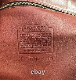 Vintage Coach X-Large WAVERLY British Tan Leather Tote Buckle Dustbag #0795-110