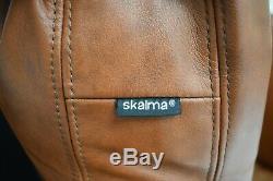 Vintage Danish Skalma Tan Brown Leather Armchair Club Chair Midcentury 1970s