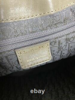 Vintage Dior Tan Leather Purse With Inside Galliano Print Christian Dior Bag