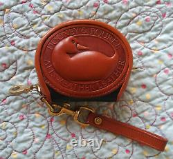 Vintage Dooney and Bourke Big Duck Coin Purse Navy / Tan USA Very Nice