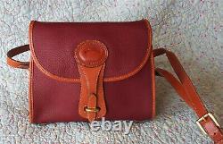 Vintage Dooney and Bourke Essex Shoulder Bag Rare Rouge / British Tan U. S. A