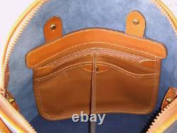 Vintage Dooney and Bourke Norfolk Shoulder Bag Navy and Tan Beautiful USA