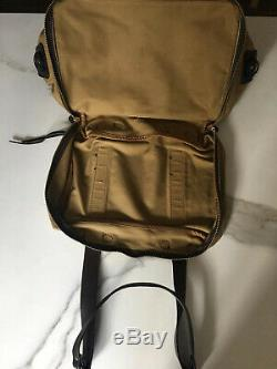 Vintage Filson Outfitter Bag 238, Tan Twill, Bridle Leather Trim