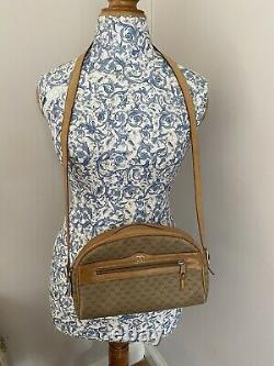 Vintage Genuine Gucci Small Cross Body/Shoulder Box Bag Tan & Brown
