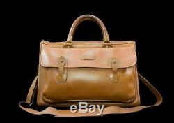 Vintage Ghurka Marley Hodgson No 17 SATCHEL Saddle Leather British Tan Briefcase