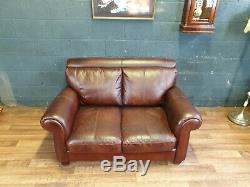 Vintage John Lewis Chesterfield Distressed Tan Real Leather Club Cottage Sofa