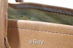 Vintage LL Bean Tan Leather Tote Shopper Bag Freeport Maine