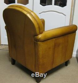 Vintage Laura Ashley Tan Leather Chair