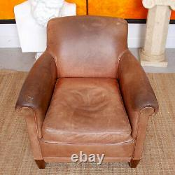 Vintage Leather Armchair Tan Lounge Chair