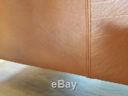 Vintage Mid Century Danish Tan Leather 2 Seater Sofa- Borge Mogensen Style 2