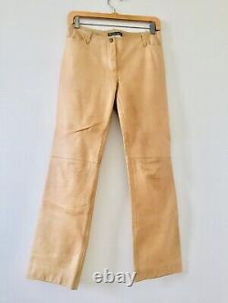 Vintage Plein Sud Jeans Womens Pants Tan Leather Size 6 Excellent condition