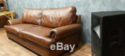 Vintage Tetrad Cordoba John Lewis Chesterfield Chestnut Tan Leather Club Sofa 2