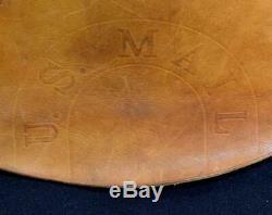 Vintage US Mail Bag 1966 Bucheimer Belting Leather British Tan USPS Carrier Bag