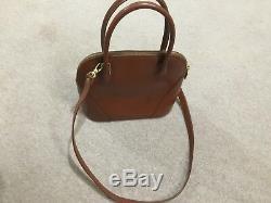 Vintage tan leather Yves Saint Laurent hand bag 100% Genuine