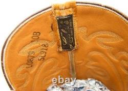 Womens Vintage Lucchese Tan Full Ostrich Skin Cowboy Western Boots Sz 10 B 10b